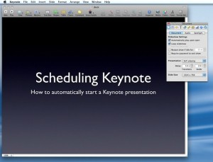 how to automatically start a keynote presentation